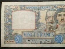 """Série:X.3058"""".20frsSCIENCE et TRAVAIL 20.2.1941.AUCUNEfente,5 épinglages."""
