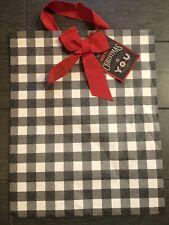"Hallmark 15"" Extra Large Christmas Gift Bag WITH Tissue Paper Buffalo Plaid Xmas"