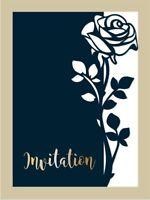 Cutting Dies Rose flower Leaves border Metal Scrapbook Paper Craft Decoration