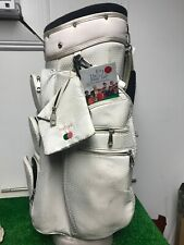 Keri Golf Ladies Used White Cart Bag with 12-way Dividers & Rain Cover