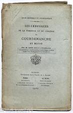 Chroniques de la paroisse et du collège de Courdemanche au Maine 1876