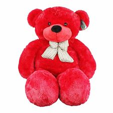 "Joyfay® Red Giant Teddy Bear 47"" 120cm Stuffed Toy Birthday Gift"