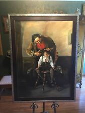 Sofokli Telo large oil on canvas ( Next Norman Rockwell )