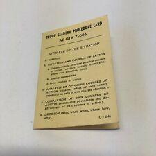 Military Troop Leading Procedure Card Ae Gta 7-006