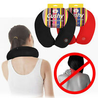 Neck Massage Pillow Vibrating Travel Micro Bead Stress Relief Battery Operated
