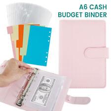 A6 PU Leder Notebook Binder Budget Planer Organizer Cover Taschen Geldbörse DE