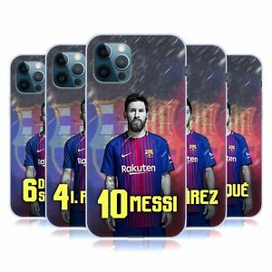 OFFICIAL FC BARCELONA 2017/18 FIRST TEAM 1 GEL CASE FOR APPLE iPHONE PHONES