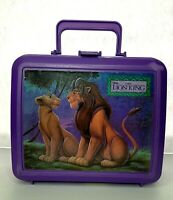 Lion King Lunch Box Disney Purple Plastic 90's Kid's Lunchbox Aladdin Brand