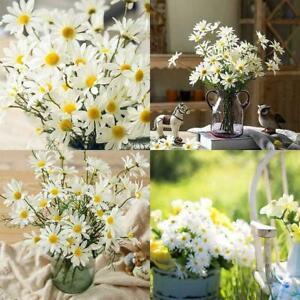 Artificial Silk Flowers Bouquet Fake Daisy Bunch Home Wedding Decoration J1D1