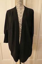 Magaschoni Cashmere Shirt Tail Black Cardigan – M/L – NWT - $355