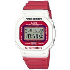 CASIO G-SHOCK RED + WHITE DIGITAL RESIN MENS WATCH DW-5600TB-4A