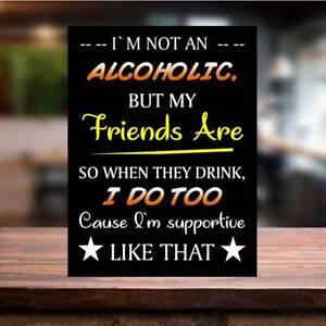 Funny Alcoholic Metal SIGN PLAQUE Home Bar Man cave Pub Beer Gaarden lockdown