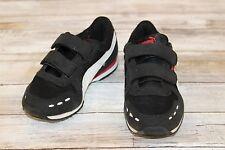 **Puma Little Boys Cabana Racer Mesh Sneaker Black/White/Red Size 12
