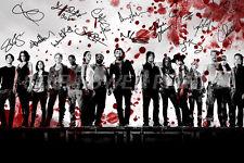THE Walking Dead CAST ARTE pre firmato foto STAMPA POSTER N.O. 4 - 12 x 8 pollici