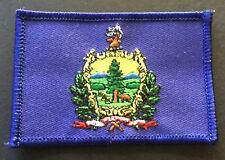 VERMONT STATE FLAG IRON-ON PATCH, EMBROIDERED