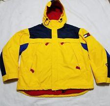 Vintage Tommy Hilfiger Jacket Fleece Lined Mens Large Yellow Flag