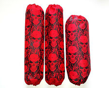 Shock Covers Kawasaki KFX 450R Red Skulls 450 R ATV Set of 3