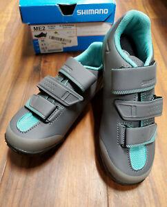 Shimano SH-ME2W Women's MTB Bicycle Shoes - Black/Green, Size EU 36