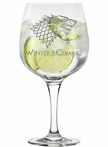 House Stark Game of Thrones Inspired Copa Gin Glass