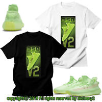 CUSTOM T SHIRT MATCHING STYLE OF adidas YEEZY Boost 350 v2 green AD-Y-5-11