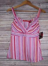 NWT Women's Gloria Vanderbilt Silk Cami Tank Top size Small Summer