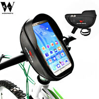 Touch Screen Phone Holder Waterproof Bike Top Tube Bag Cycling Front Frame Bag