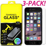 """SUPER HARD 3x Real Tempered Glass Screen Protector for iPhone 6 / 6s 4.7"""" screen"""