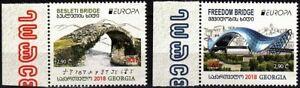 GEORGIA 2018 EUROPA: Architecture - Bridges, MNH