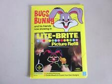 Vintage 1978 LITE BRITE BUGS BUNNY & FRIENDS  Picture Refill Set #5467 SEALED