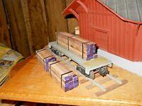 O Scale,  O Gauge  Flat Car Load Real Walnut Lumber Handmade