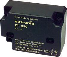 Satronic ZT 930 Honeywell Zündtrafo Zündeinheit 900 / 801 1 mm Trafo 13121 U