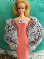 For Barbie Clothes FITS Vintg Barbie, Silkstone. Mink & Gown Outfit OOK *NO DOLL