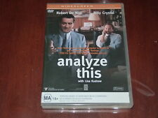 Analyze This - R4 DVD Comedy Billy Crysyal Robert De Niro Lisa Kudrow