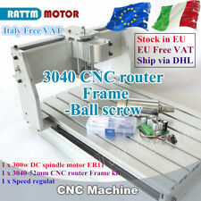 【Italy】3040 Kit telaio per macchina per incisione CNC&52mm Clamp&300W DC Spindle