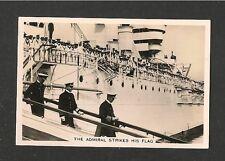 HMS WARSPITE  The Admiral strikes His Flag 1938 original poto