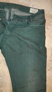 Pantalon Jeans HOMME DIESEL IAKOP W32 L32 ou 42 44 coupe droite used dirty vert
