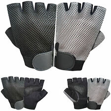 Half Finger Cycling Foam Padded with Mesh Fingerless Gym Sports Gloves 611-612