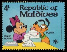 """MALDIVE ISLANDS 829 (Mi841) - Disney """"Minnie Mouse and Pluto"""" (pf77804)"""