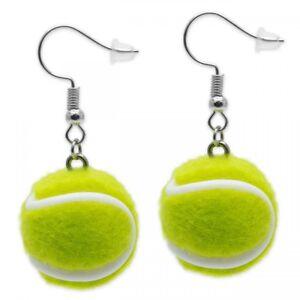1 Paar Ohrringe Tennisball Ohrschmuck Sport Ball gelb Mädchen Geschenkidee