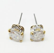 Sterling Silver Vintage Square Stud Earrings women