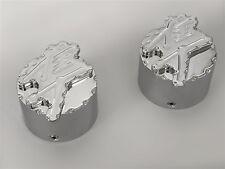 99-04-05-06-07 Hayabusa Huge Custom Chrome 3D Engraved Ball Cut Fork Caps Covers