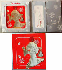 Twinkles Christmas Heirloom Ornament Little girl with bell 18K Gold Finish