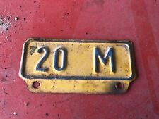 Vintage License Plate Truck Tag Weight Topper 20 M Ford Chevrolet Dodge GMC