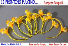 12 FRONTINO CERCHIETTO PULCINO PASQUA Idea Regalo Originale Gadgets Recita