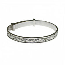 Sterling Silver Expanding Bangles All Sizes Babies Childs Womens Small Med Large