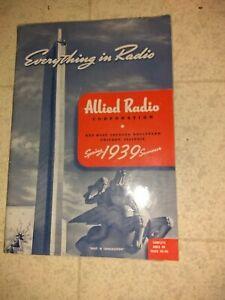 Vintage Allied Radio Corporation Catalog Spring Summer 1939 Everything In Radio