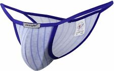 "Joe Snyder Mens Line Blue Kini 12 Bikini Slip Tanga Mankini OS (28""-36"" Waist)"