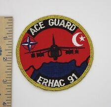 TURKISH AIR FORCE / NATO ACE GUARD ERHAC 91 PATCH Vintage Original TURKEY