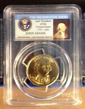 JOHN ADAMS 2007-D Presidential Dollar PCGS MS-65 coin - First Day Issue label