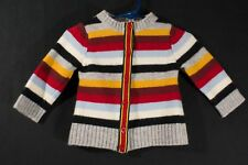 United Colors of Benetton, Made in Italy Wool Blend Striped Cardigan Sweater